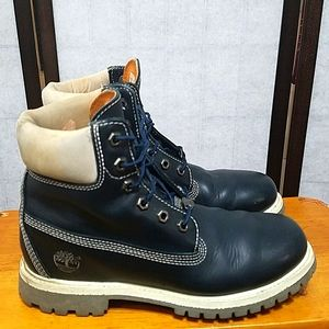 Timberland leather navy blue Chukka Boots 8M